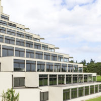 Designed by Denys Lasdun, the ziggurat buildings are iconic of the University of East Anglia