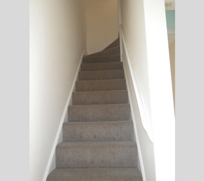 Beverley Road staircase newly carpeted