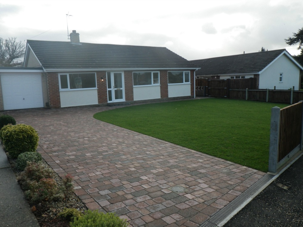 front driveway and bungalow at Firs Road Norwich