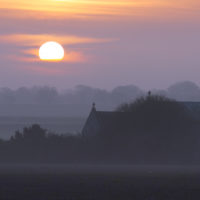 Norfolk property at sunset