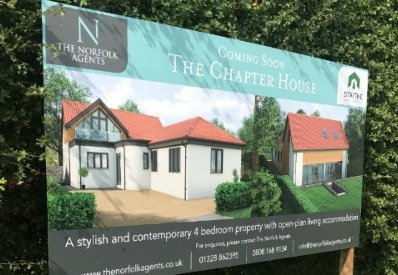 Sign for new property development